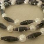 Black paper beads and Perls